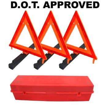 Warning triangles: Emergency roadside folding triangle reflectors