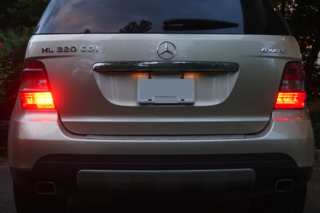 The rear fog lights on a Mercedes W164 ML 320 CDI 4matic (US version)